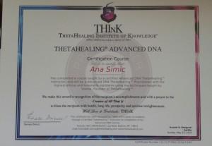 Theta Healing DNA 2 Certificate